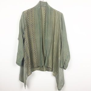 Vintage | Unique Silk Patterned Waterfall Jacket